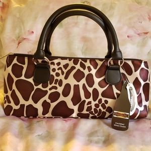 NWT Leopard Wine Clutch & Corkscrew or Lunch Box